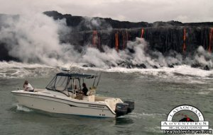 Hawaii Volcano Tour by boat  to view active lava Big Island, Hawaii Cruises