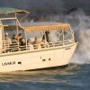 Hawaii Volcano Tour by boat  to view active lava Lava Boats - LavaKai at Hawaii Volcano Kilauea