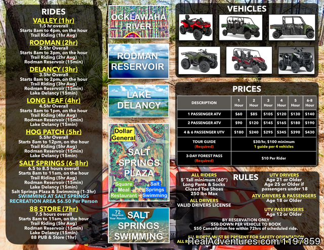 At the trailhead-let's get started - ATV Guided Tours in Ocala National Forest