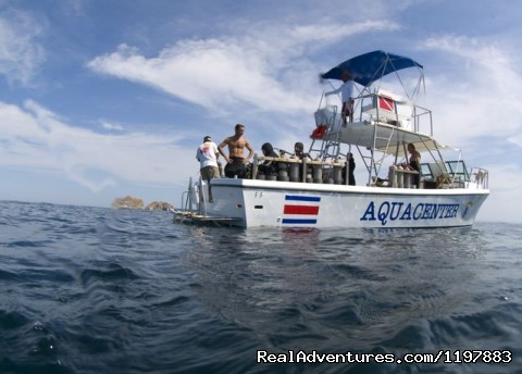 One of the many custome dive boats available - Scuba Diving In Costa Rica With Bill Beard