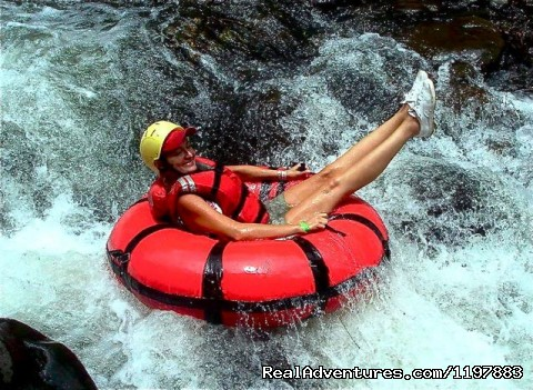 White Water Tubing Is very popular - Scuba Diving In Costa Rica With Bill Beard