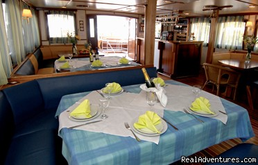 MY Barbara inside restaurant - Cruising in Croatia aboard MY Barbara