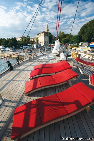 MY Barbara sundeck - Cruising in Croatia aboard MY Barbara