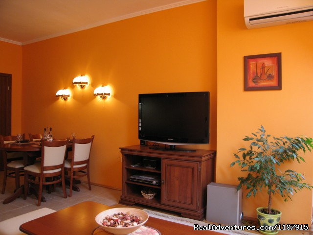 Hotel Apartment Mladost in Sofia: Living room - kitchenette