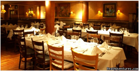 Dining at Trattoria di Umberto - Fireplaces & Hot Tubs, Your Mountainside Hideaway