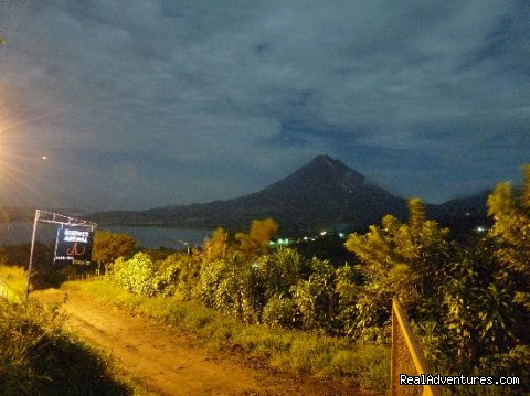 Arenal Volcano by night - Essence Arenal Boutique Hostel