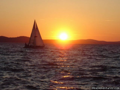 The most beatiful sunset in the world. View from sea organ   (#4 of 4) - Sightseeing Tour  Zadar, Croatia
