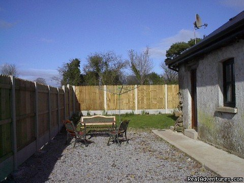Sunny patio area | Image #3/6 | East Cork Traditional Cottage