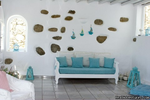 Reception sitting area - Romantic Luxury Getaway in Mykonos