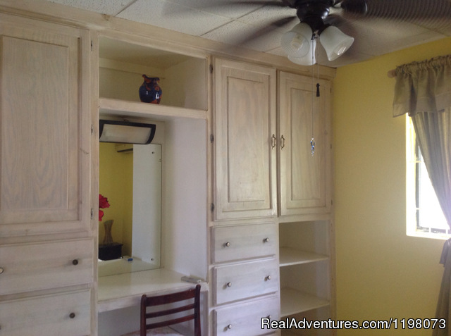 Plenty of closet space and room for all of your belongings - Spacious vacation rental close to St. Lawrence Gap