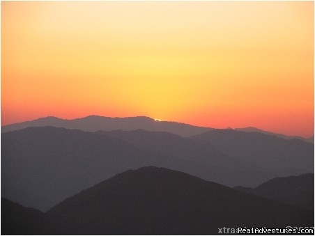 Sunset view from Nagarkot - Nepal Culture Tour
