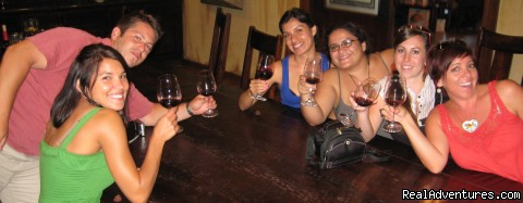 Wine tasting in the V.I.P room at Leonesse cellars - Jeep wine tasting tour