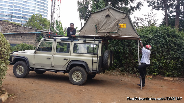 Roof Tent Hire  Kenya,Camper Hire Kenia,4x4 Kenya,: Land Rover Defender with Roof Tent, Camper Hire, 4WD Kenia