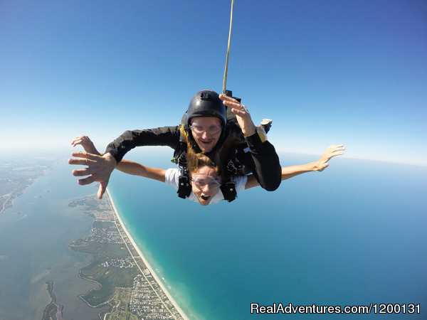 Skydive over the Florida Coastline