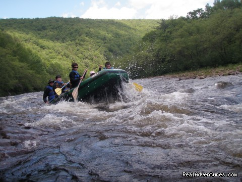 Class III action on the lehigh river - WhiteWater Rafting Adventures