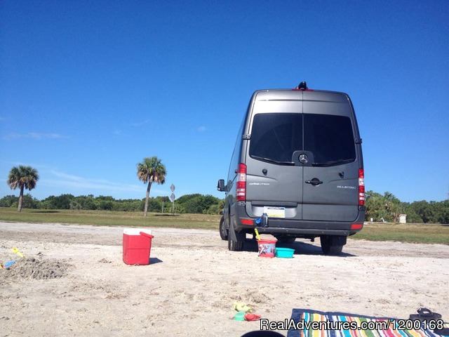 Ride to the beach in luxury in a Mercedes Sprinter Van - Florida Van Rentals - Passenger & Wheelchair Vans