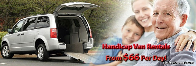 Rent a Side or Rear Entry Wheelchair Van Monthly $66/Day - Florida Van Rentals - Passenger & Wheelchair Vans