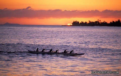 All Inclusive Womens Retreats - Hanalei Bay, Kauai Outrigger Canoeing at Sunset