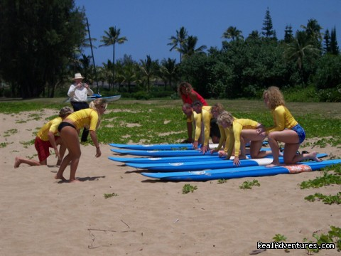 Surfing Hanalei Bay - All Inclusive Womens Retreats - Hanalei Bay, Kauai