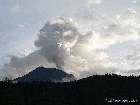 tungurahua volcano letting off some steam - Eco Haven In Tranquil, Tourist Town
