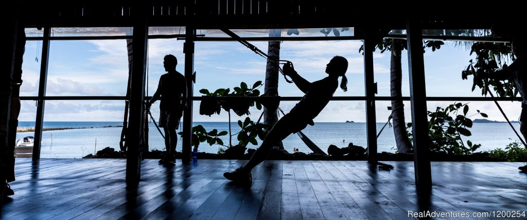 Beachfront fitness classes