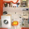 Bathroom, nice decorated in orange