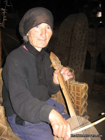 4 Days Prvate Tour to Svaneti: Elder woman in Svaneti village