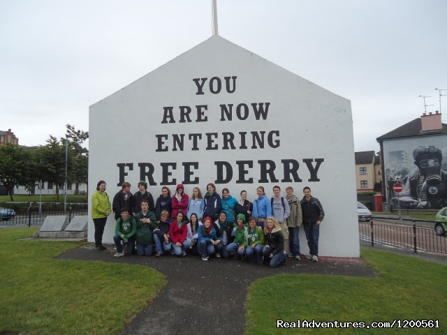 Trip to Derry: The Walled City - Surf & Outdoor Sports Training Program  Ireland.