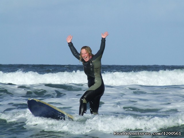 Melissa Surfing in Bundoran, YAY (#1 of 17) - Surf & Outdoor Sports Training Program  Ireland.
