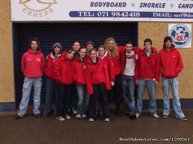 Some of our Trainees  - Surf & Outdoor Sports Training Program  Ireland.