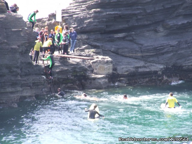 Cliffjumping in our town - Surf & Outdoor Sports Training Program  Ireland.