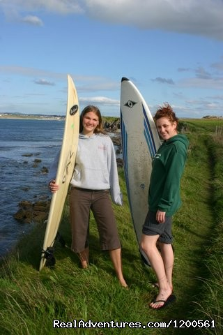 The ladies prepare to hit the surf (#14 of 17) - Surf & Outdoor Sports Training Program  Ireland.