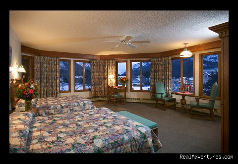Premium Deluxe Guest Room with 2 queen beds - Banff International Hotel