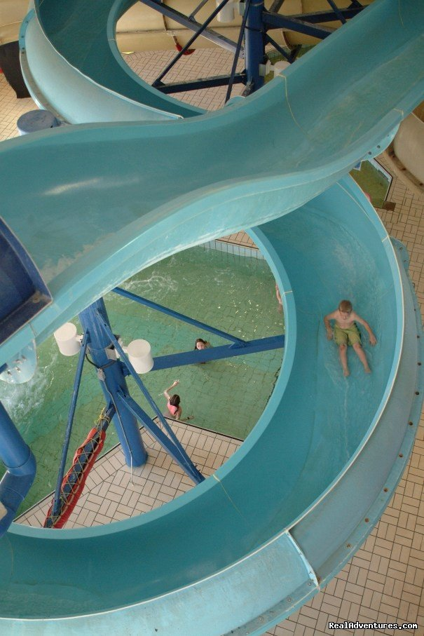 2 Ginat Indoor Waterslides | Image #3/7 | Douglas Fir Resort & Chalets