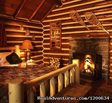 Individual Historic Log Cabin Interior - Storm Mountain Lodge and Cabins