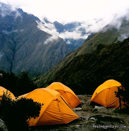 Our tents on the Inca Trail - The Classic Inca Trail 4 Days