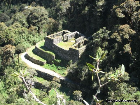 Inca ruins along the Inca Trail - The Classic Inca Trail 4 Days