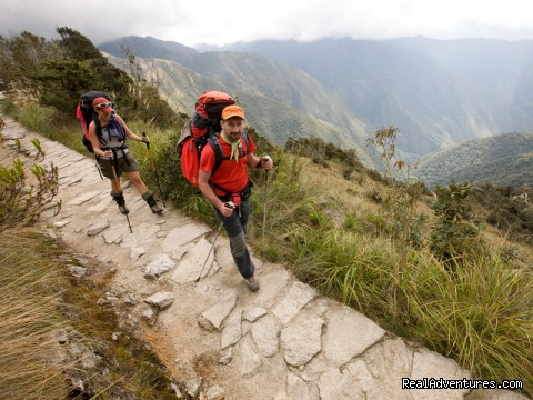 Trekker along the Inca Trail - The Classic Inca Trail 4 Days