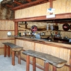 Dinning area in the selfcatering woodenhouse.