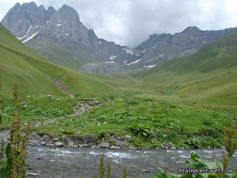 Tour Operator Georgia, Caucasus: Landscape of the Caucasian mountains