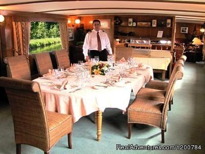 Dining Room - Dream Cruise on the French Burgundy canal