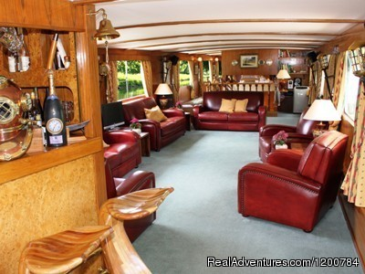 Living room - Dream Cruise on the French Burgundy canal