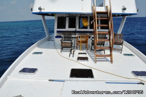 Front space of our liveabord Dolphin-1 (#13 of 24) - Maldives Trips - Fishing, Surfing, & Scuba Diving