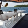 Front seat of Liveaboard Dolphin-1