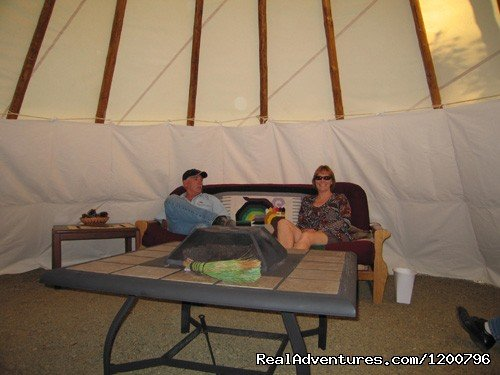 Inside Cerimonial TiPi | Image #16/18 | Lone Mountain RV Resort and Campground
