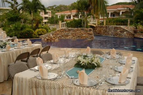 Table set up for a wedding -  Look out over paradise at the Mayan Princess!