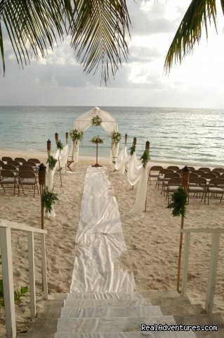 Gazebo set up for a wedding -  Look out over paradise at the Mayan Princess!