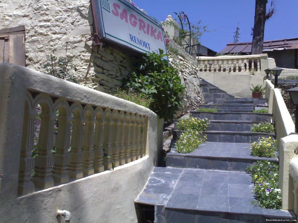 Stairs to the main area | Image #5/7 | Sagrika Resort Dalhousie HP India