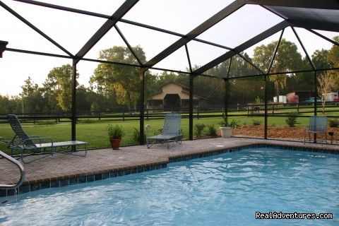 Your private pool & barn. - Romantic Horseback Riding Getaways