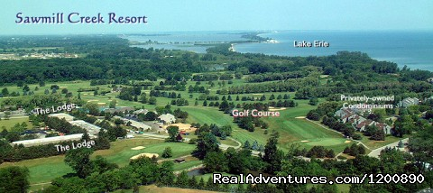 Aerial View on Lake Erie - Romantic & Family Vacation Getaway, Wine Tours